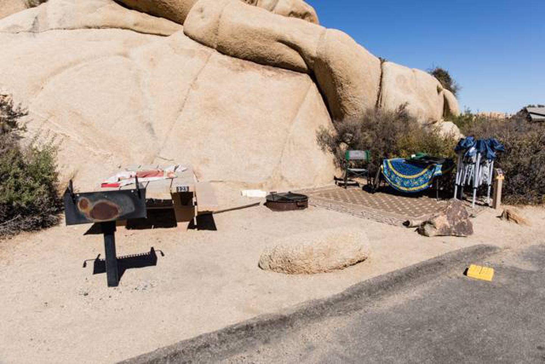 Jumbo Rocks site 123Campsite