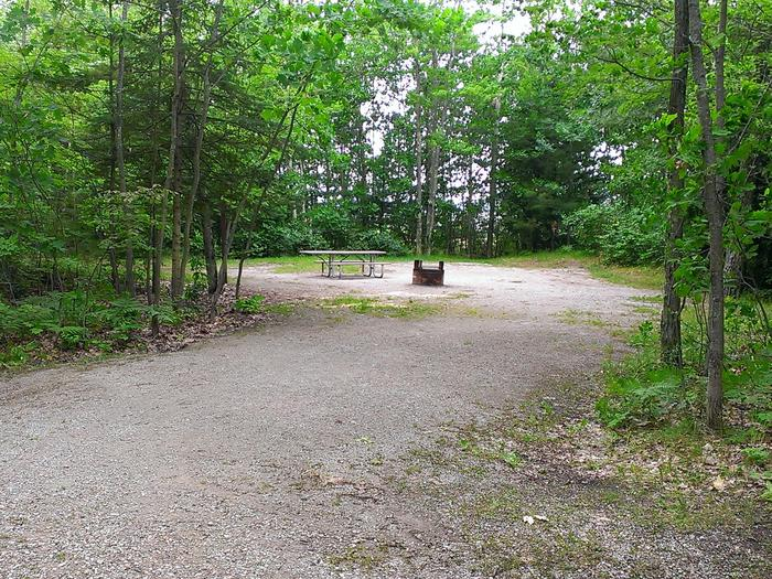 Little Bay de Noc Campground site #04