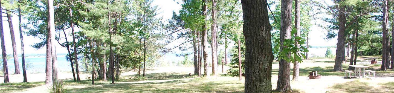 Little Bay de Noc Campground site #34