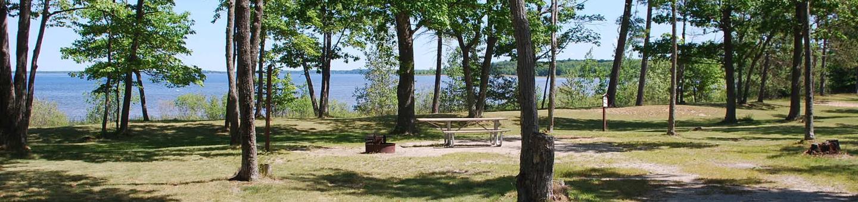Little Bay de Noc Campground site #36