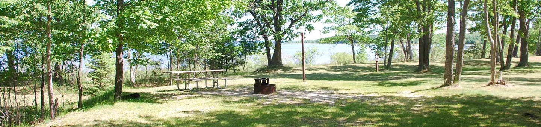 Little Bay de Noc Campground site #37