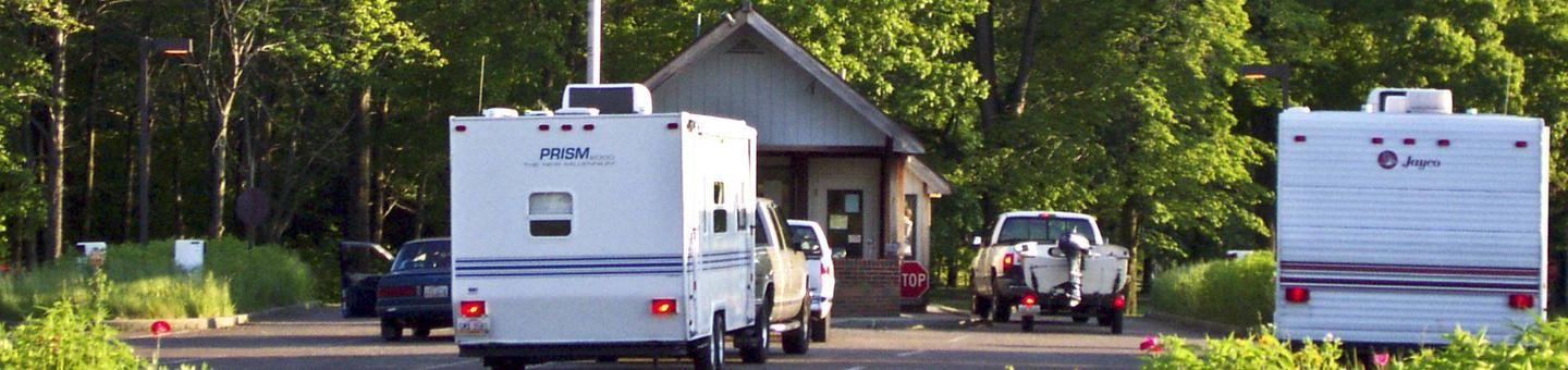 The entrance station of the Mill Creek Campground.