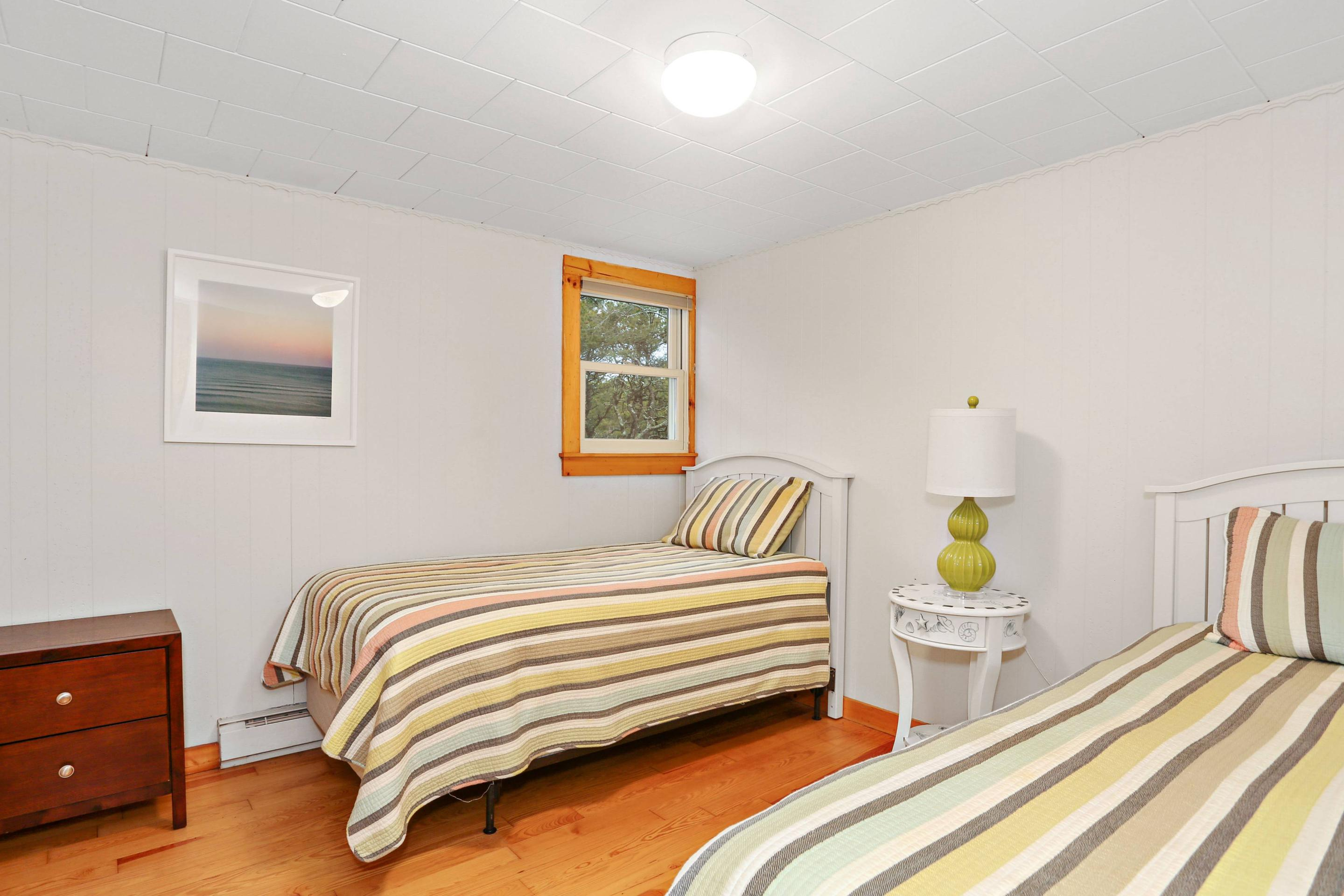 Two twin beds are available in one of the rooms