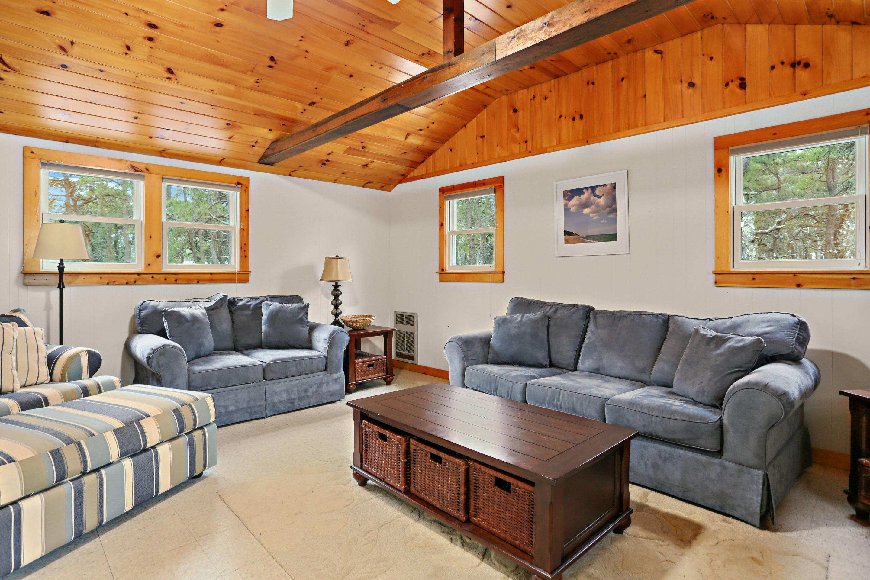 A comfortable sitting area for the entire family