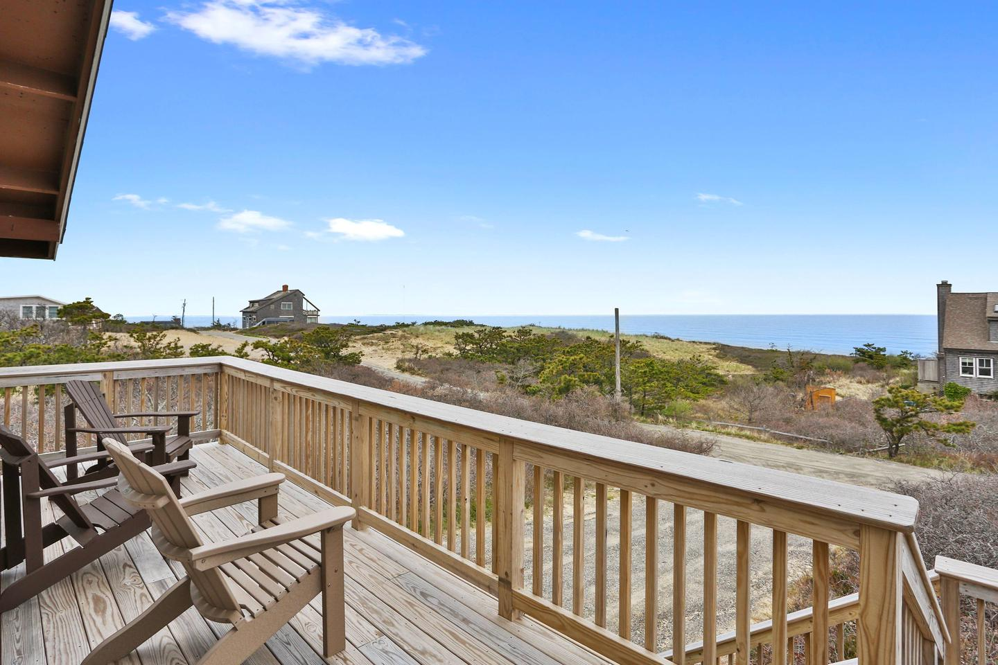 Take in the sunrise and salt air from the deck