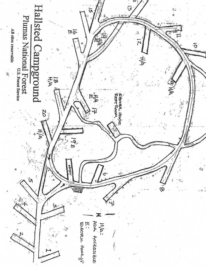Map of Hallsted Campground