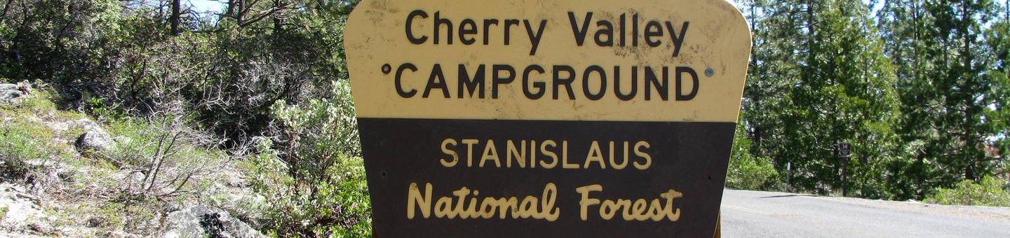 Cherry Valley Campground Entrance Sign