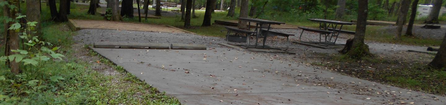 Cades Cove Campground C66C66 Generator Free Area-picnic table on wrong side of site for RV campers