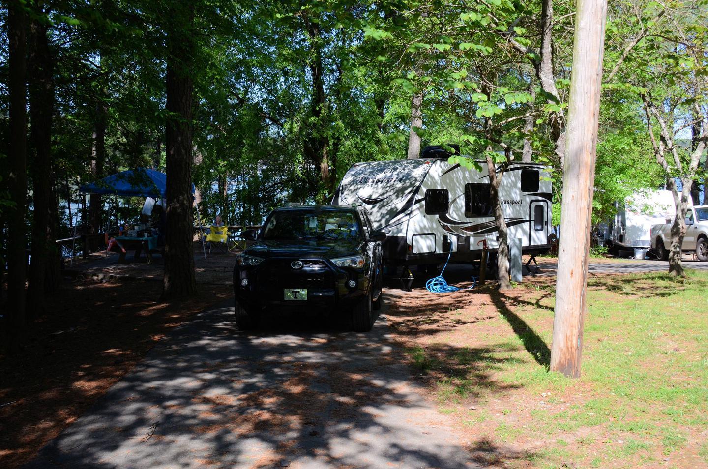 Pull-thru exit.McKinney Campground, campsite 39.