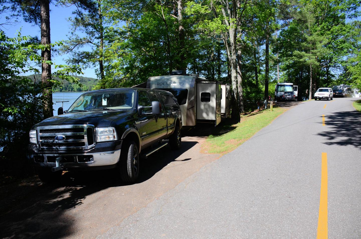 Driveway angle/slope, utilities-side clearance.McKinney Campground, campsite 47.