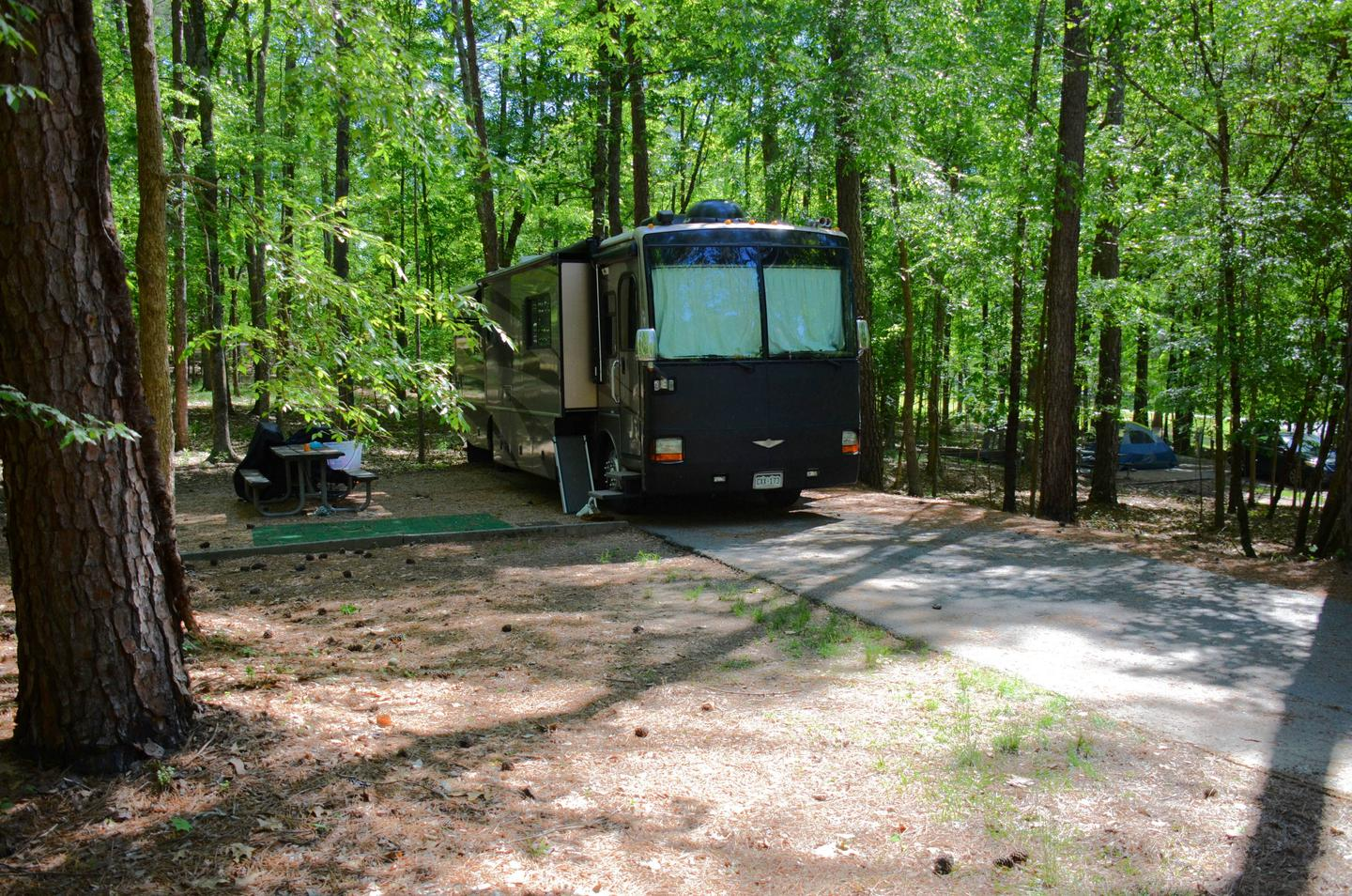 Driveway slope, awning-side clearance.McKinney Campground, campsite 61.