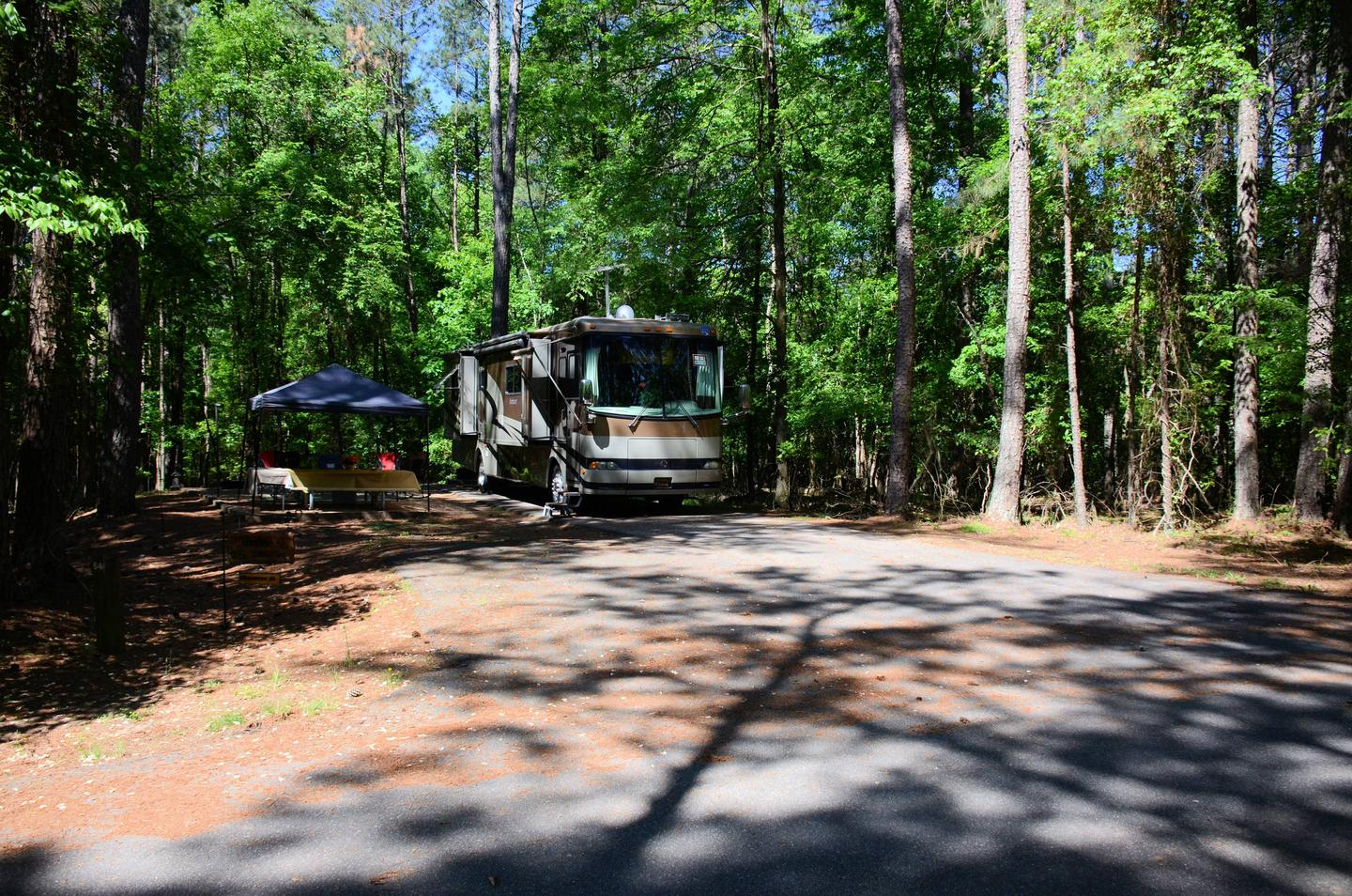 Driveway entrance angle/slope, awning-side clearance.McKinney Campground, campsite 64.