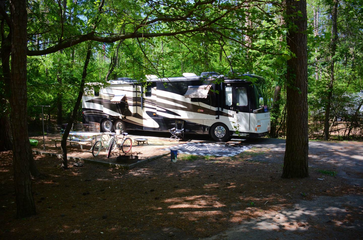 Awning-side clearance, amenities.McKinney Campground, campsite 72.