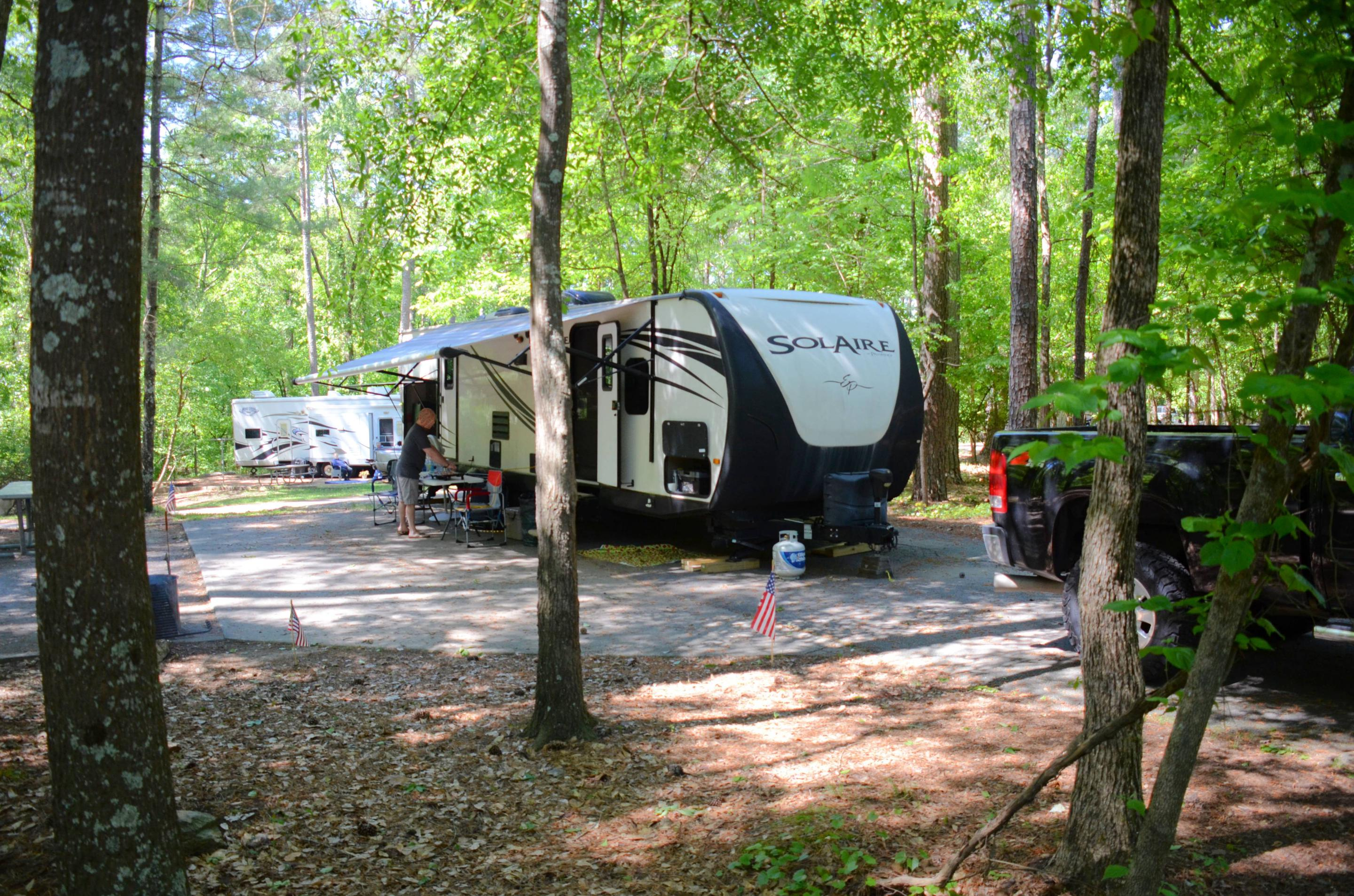 Campsite view, awning-side clearanceMcKinney Campground, campsite 73.