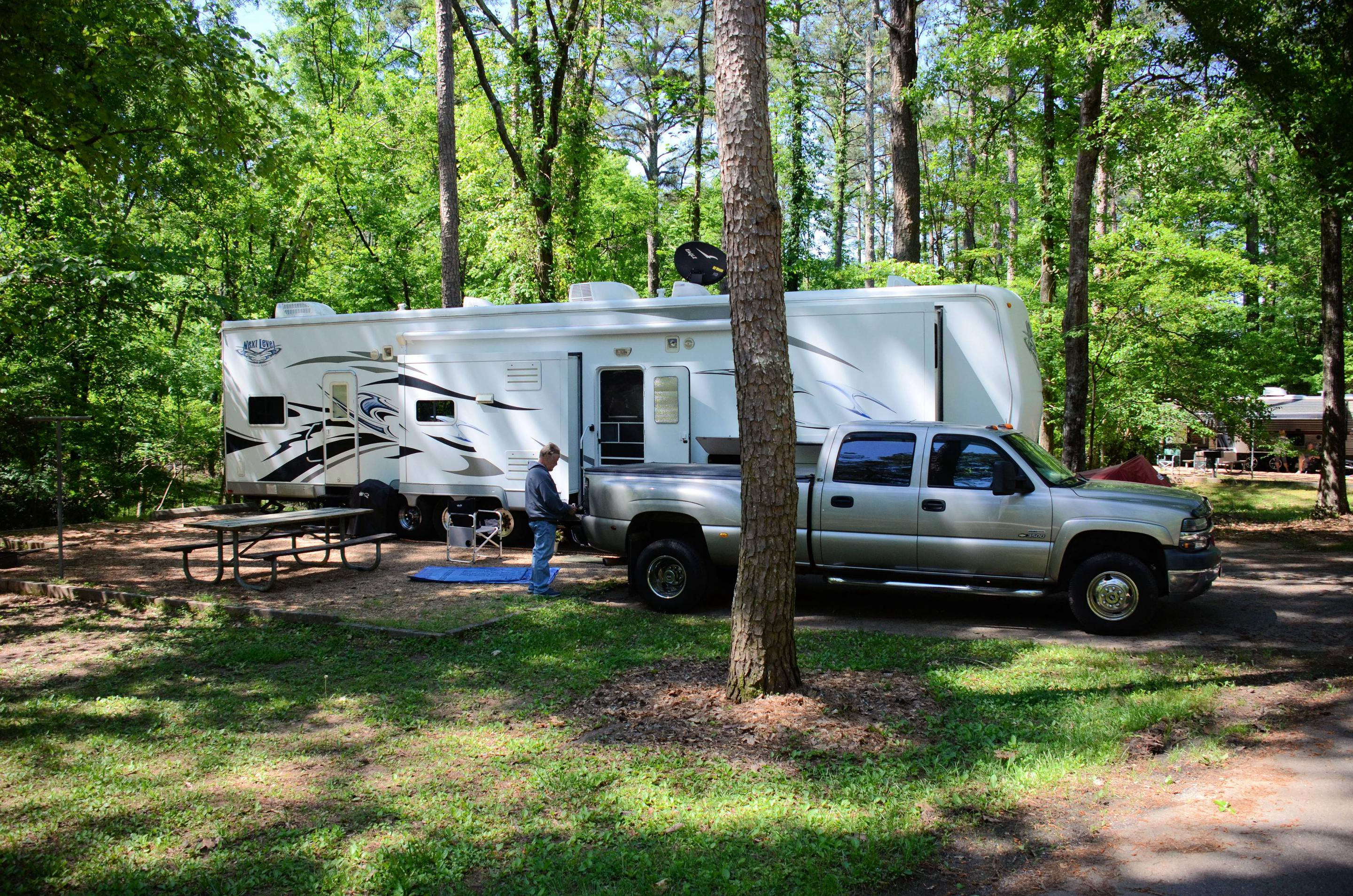 Campsite view, awning clearance.McKinney Campground, campsite 75