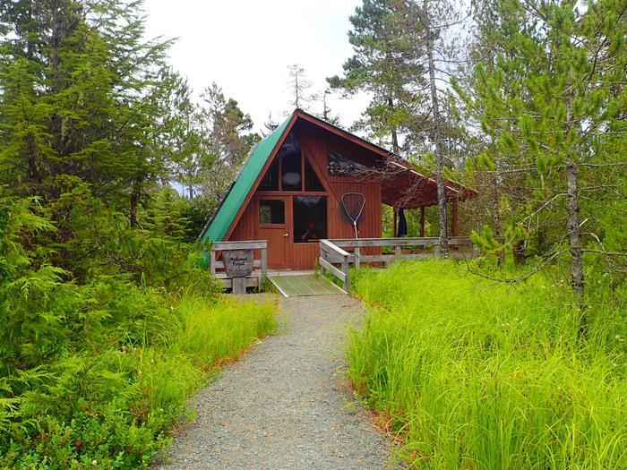 Kah Sheets Lake CabinFront of cabin