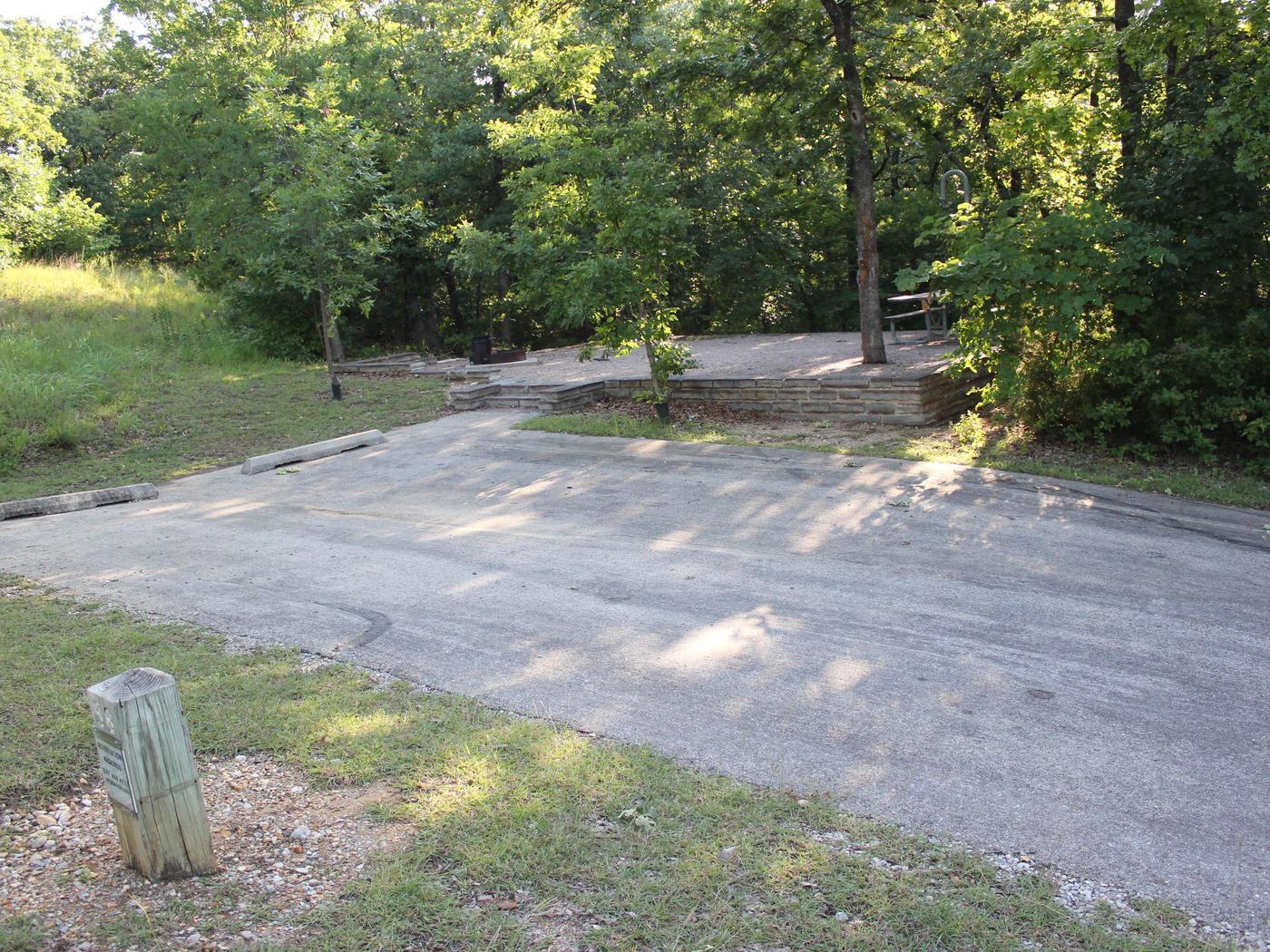 Site #56 Point Campground