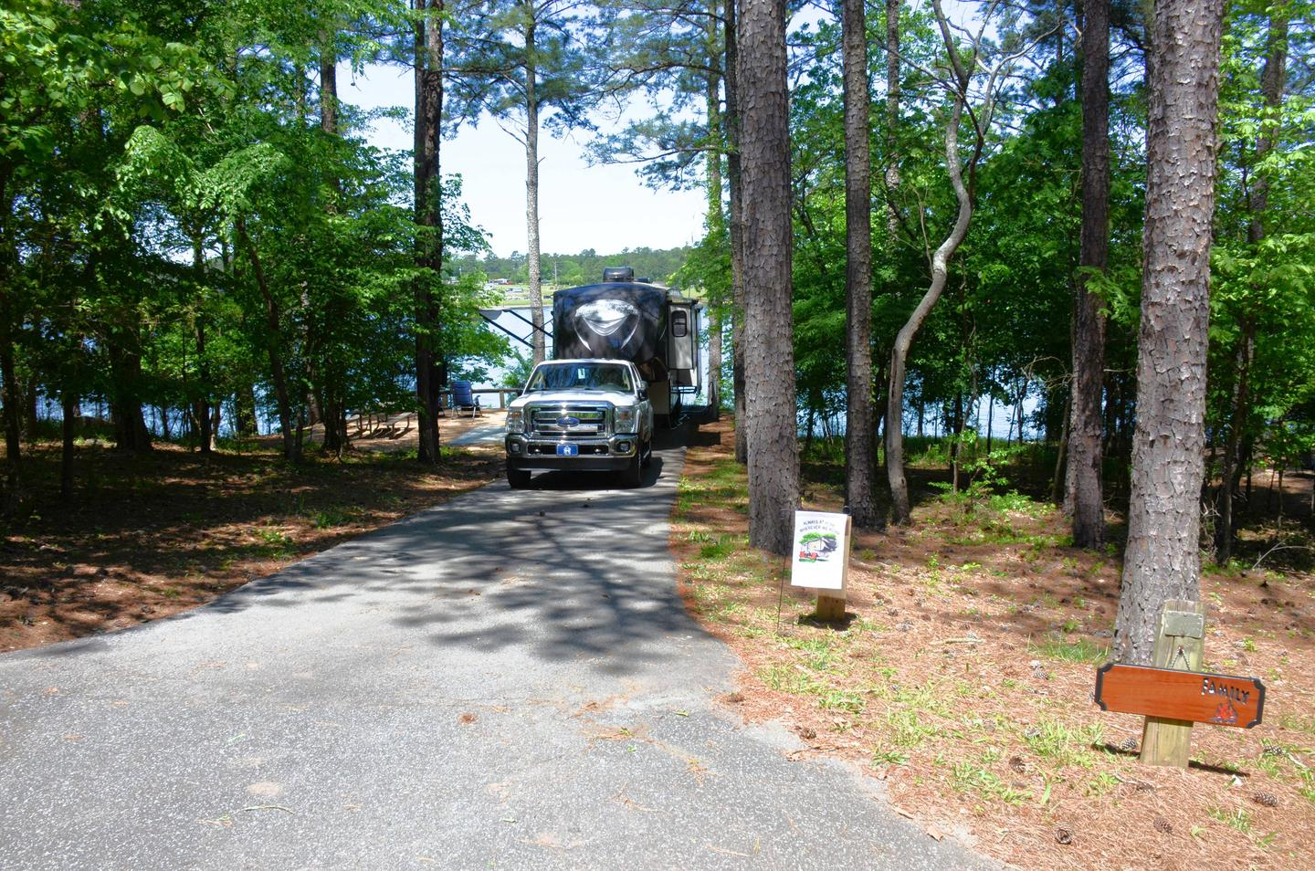 Driveway entrance angle/slope, utilities-side clearance.McKinney Campground, campsite 89.
