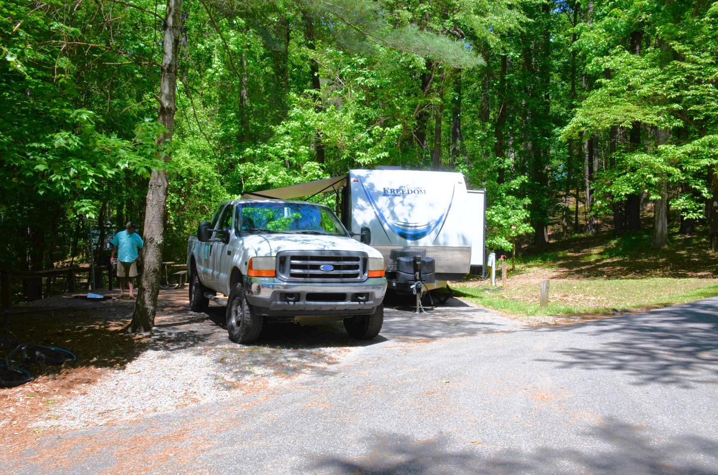 Driveway, awning-side clearance.McKinney Campground, campsite 96.