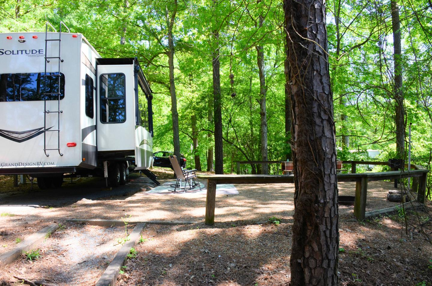 Campsite view, awning-side clearance.McKinney Campground, campsite 98.