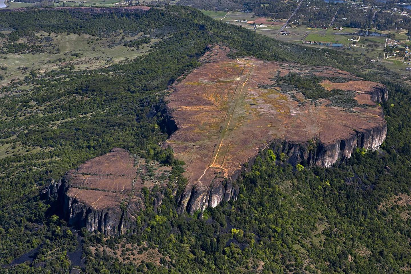 Aerial view of Lower Table Rock