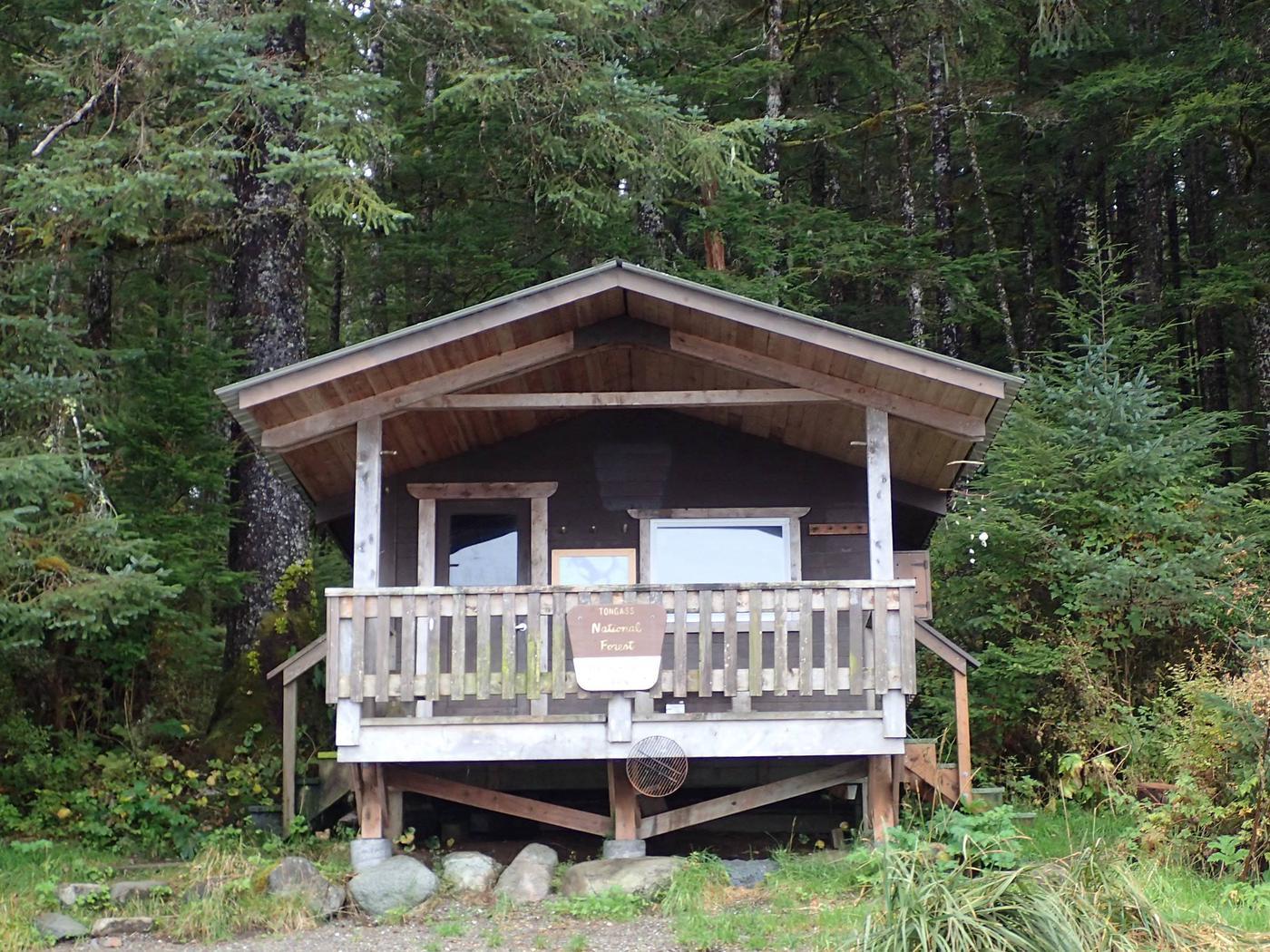 Beecher Pass CabinFront of cabin