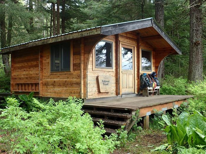 Petersburg Lake CabinFront of cabin
