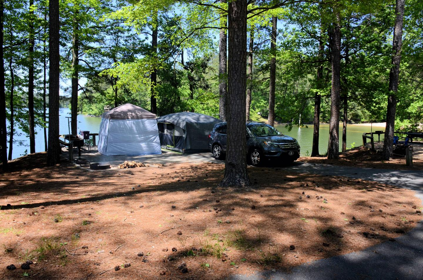 Campsite view, driveway slope, awning-side clearance.McKinney Campground, campsite 123.