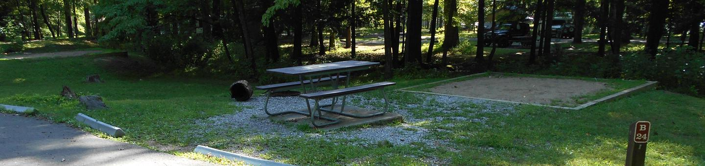 Cades Cove Campground B24B24 Tent Only Generator Site