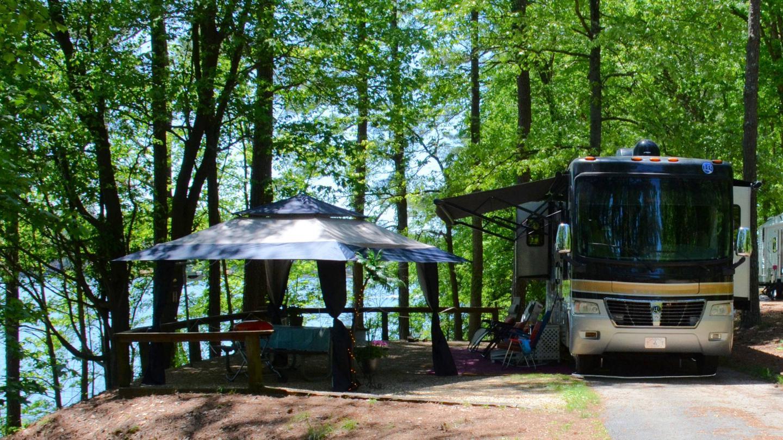 Campsite view.McKinney Campground, campsite 130.