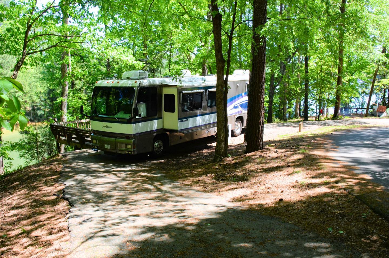 Pull-thru exit, driveway slope.McKinney Campground, campsite 149.
