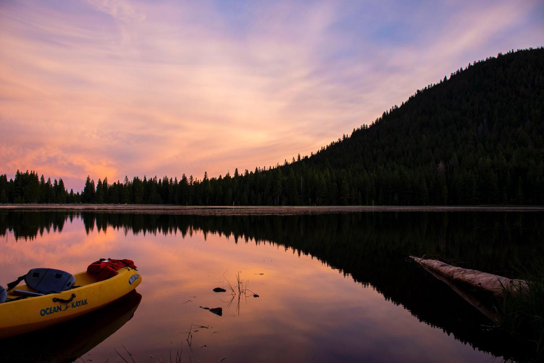 Juanita Lake with SunsetJuanita Lake Sunset