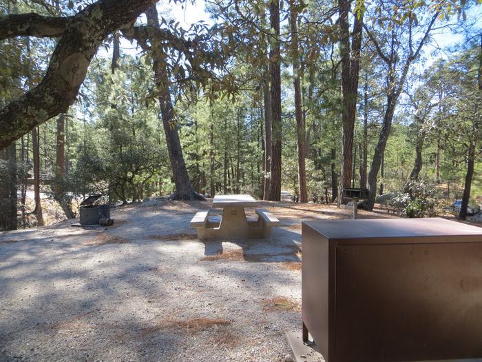 Campsite in Rose CanyonRose Canyon Lake Campground