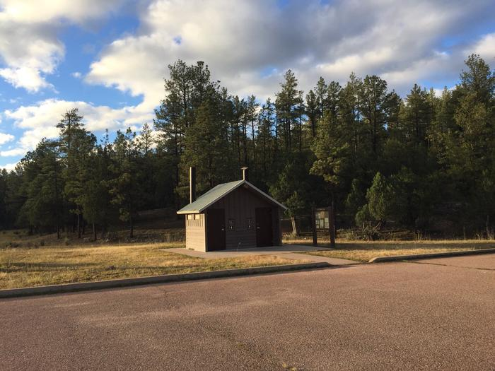 Sharp Creek Campground restroom building for group sites