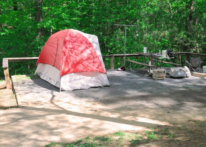 SW001 - Campsite view.Sweetwater Campground, campsite 1.