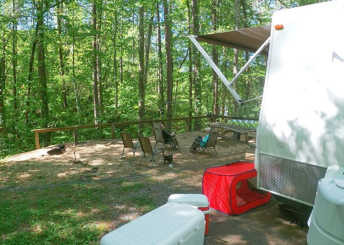 Campsite view.Sweetwater Campground, campsite 19.