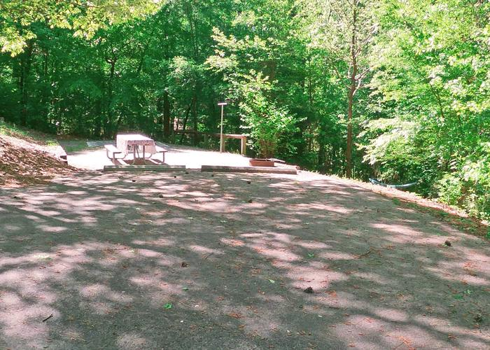 Supplemental parking, tent pad.Sweetwater Campground, campsite 26.