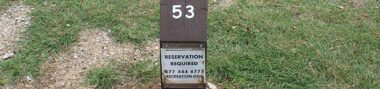 Site #53 Point Campground