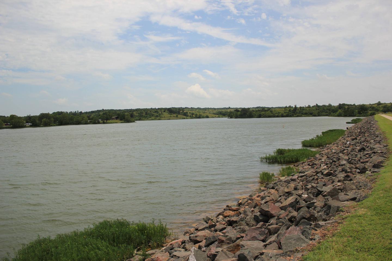 View of Dam area Veteran's Lake