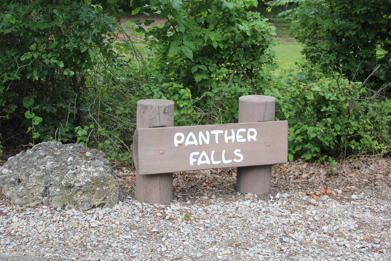 Panther Falls Sign