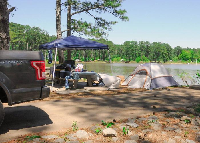 Campsite view.Sweetwater Campground, campsite 75.