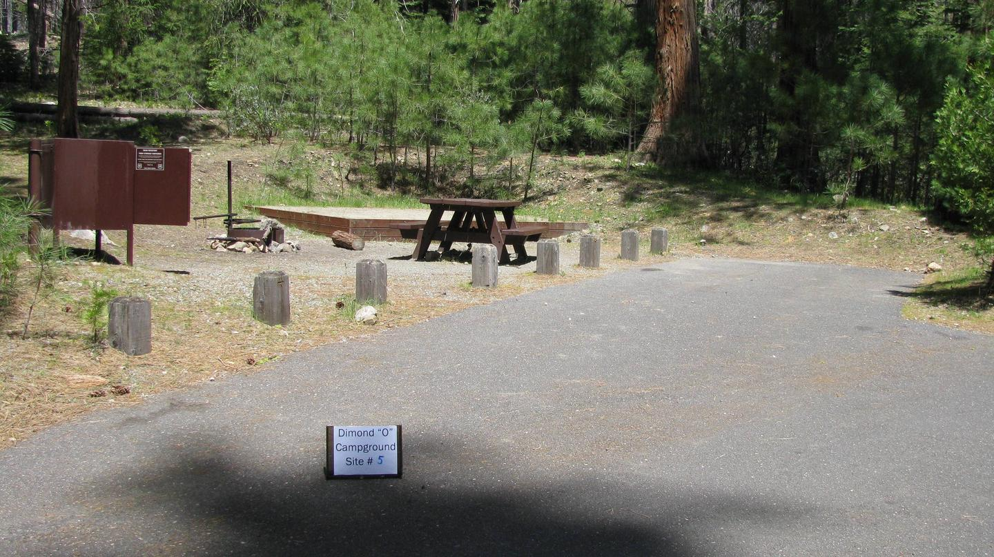 Dimond O Campground, Site #5