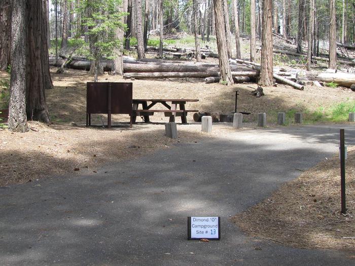 Dimond O Campground, Site #13