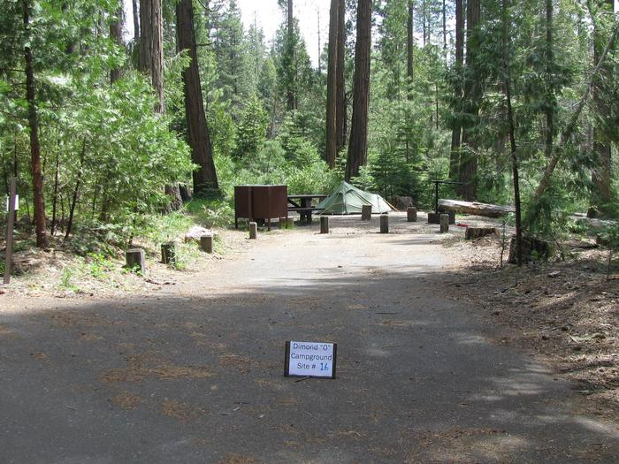 Dimond O Campground, Site #16