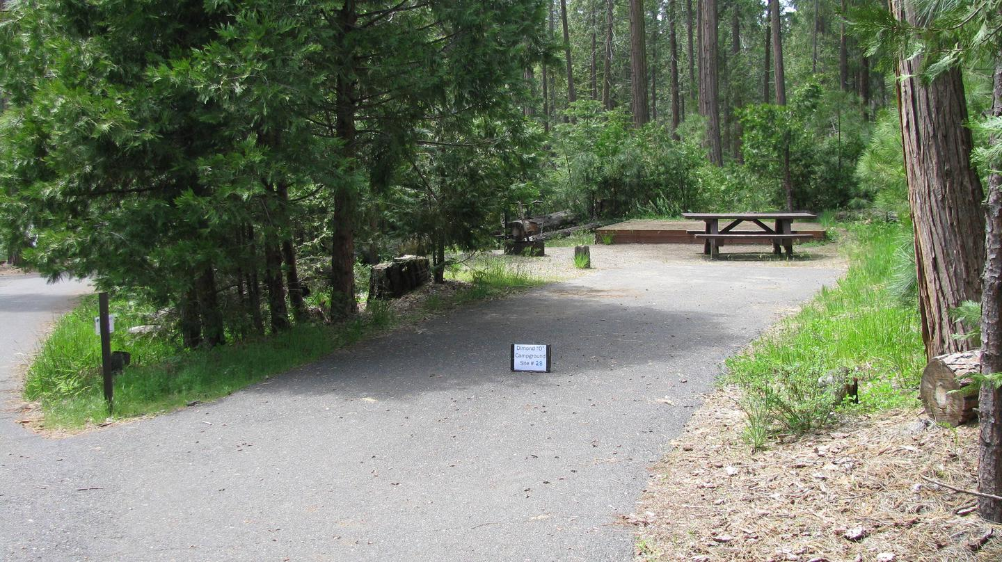 Dimond O Campground, Site #28