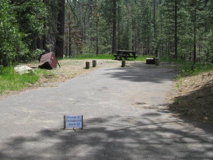 Dimond O Campground, Site #33