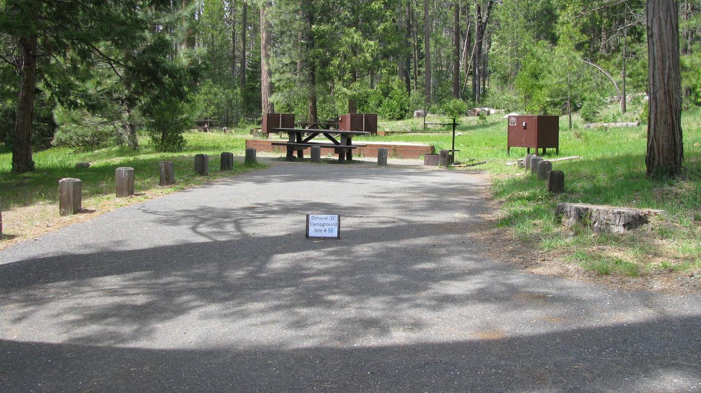 Dimond O Campground, Site #38