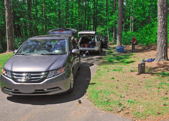 SW096 - Driveway slope, utilities-side clearance.Sweetwater Campground, campsite 96.