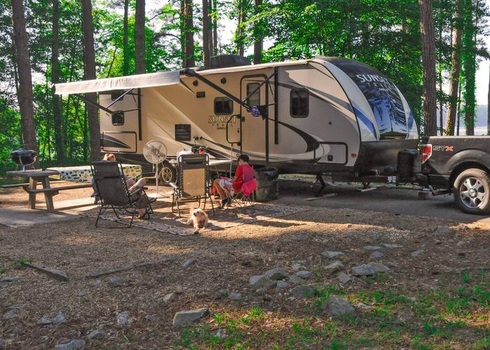 SW116 - Awning-side clearance, campsite view.Sweetwater Campground, campsite 116