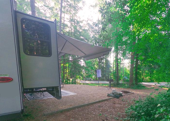 SW126 - Awning-side clearance, campsite view.Sweetwater Campground, campsite 126.